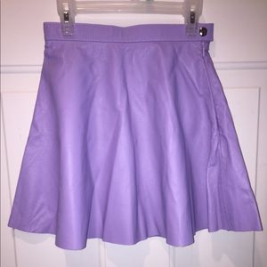 American Apparel Lilac Leather Skirt