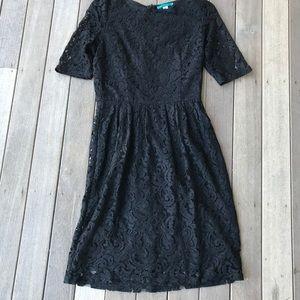 Pim + Larkin black lace dress M