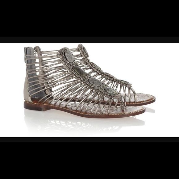 ce809f8b9147c6 Sam Edelman Hazel-Pewter Gladiator Sandals. M 5a05c52b2de512b36307b6e7