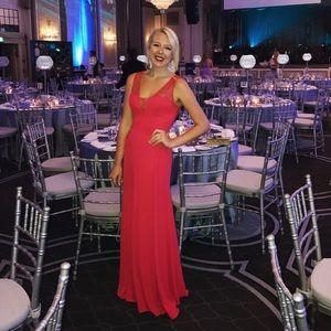 Stunning Lipstick Red BCBG Gown