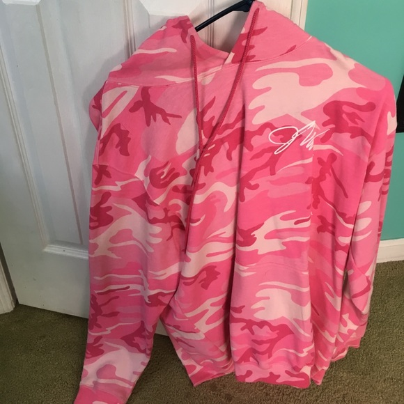 91a7a3f8ef2b Jackets   Blazers - Authentic jake Paul pink and white camo hoodie