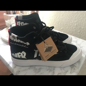 HUF x Thrasher Classic Hi TDS Black & White Shoes