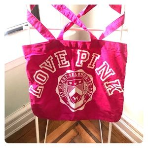 PINK tote bag FREE with purchase