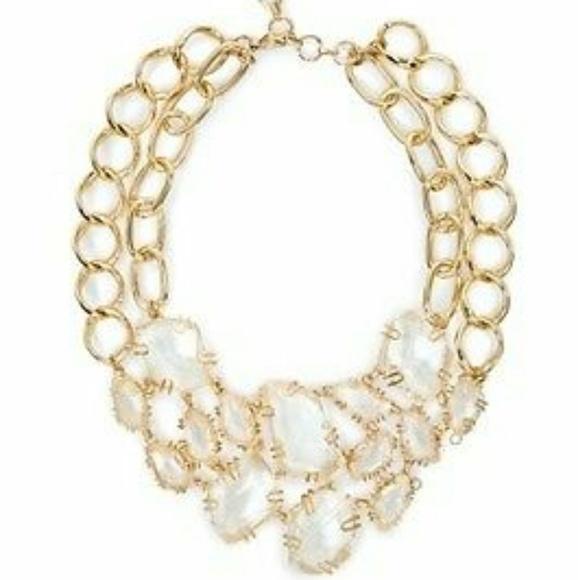 8bcb8fd3bfd BCBG Jewelry - BCBG Stone Chain Bib Necklace