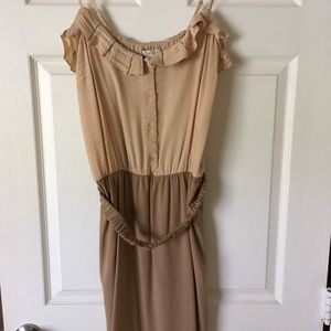 RARE Dress Sandro Sleeveless duo color Bimaterial