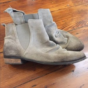 Naughty monkey grey suede ankle boots