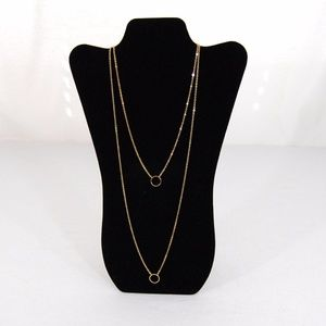 NWOT: Gold circle 2 strand necklace