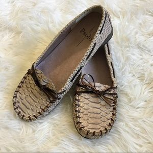 PAOLO MOCCASINS LOAFERS LEATHER FLATS 8
