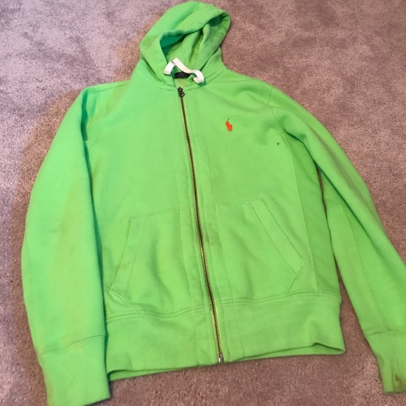 Polo By Ralph Lauren Shirts Mens Polo Ralph Lauren Green Zip Up