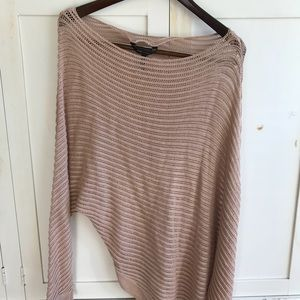 BCBG Maxazria Slouchy Off the Shoulder Sweater