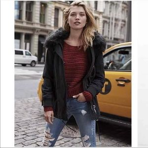 Express Fur Hooded Jacket