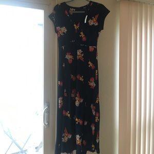 d8e8c047af8 Madewell Dresses - Madewell deep-V maxi in cactus flower sz0 NWT