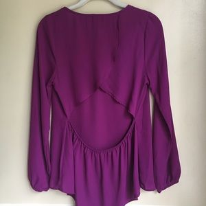 Everly Open Back Blouse