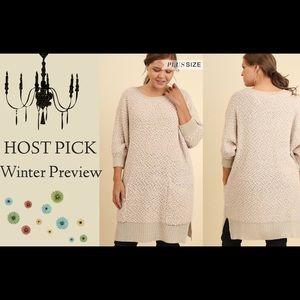 Cozy Tunic Soft Sweater /Oatmeal Sz: XL