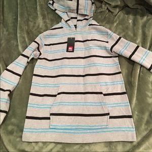 NWT Quiksilver Striped Hoodie Sweatshirt Size M
