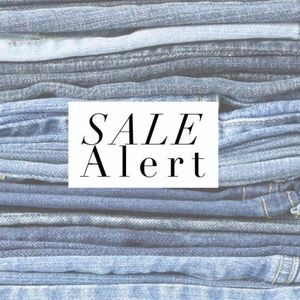 HUGE JEAN SALE! ALL JEANS SLASHED TO THEIR LOWEST