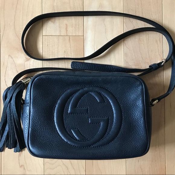 04674c07de4ee Gucci Handbags - GUCCI Navy Blue Soho Disco Shoulder Bag