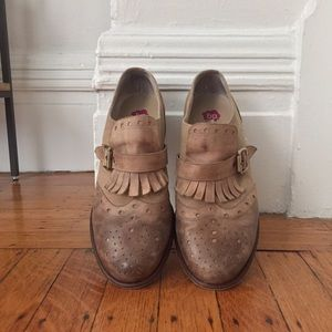 Distressed loafers - like new!