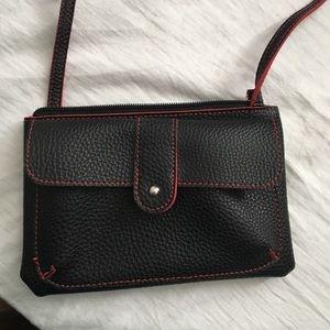 Handbags - Small black and Red Cross body purse