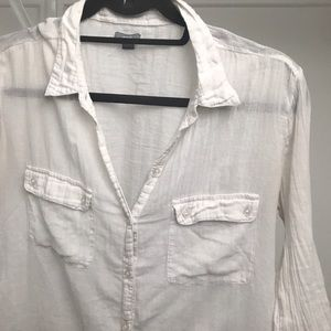 Aerie cotton nearly sheer shirt.