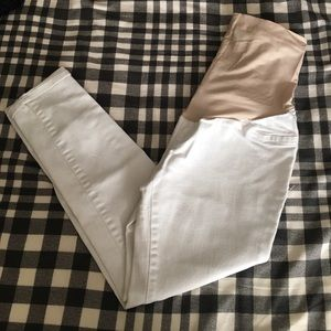 Brand New without tags white Maternity Capris