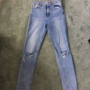 "Lightly Worn High Waisted Asos 28"" Jeans"