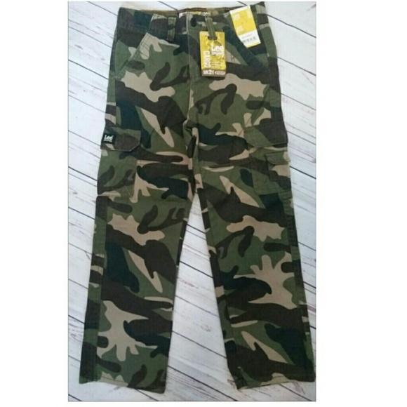 66dbb0b0de Lee Bottoms | Boys Camouflage Camo Cargo Pants 6 | Poshmark