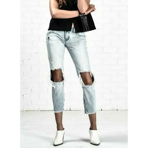 One x One Teaspoon cropped destroyed jeans 27