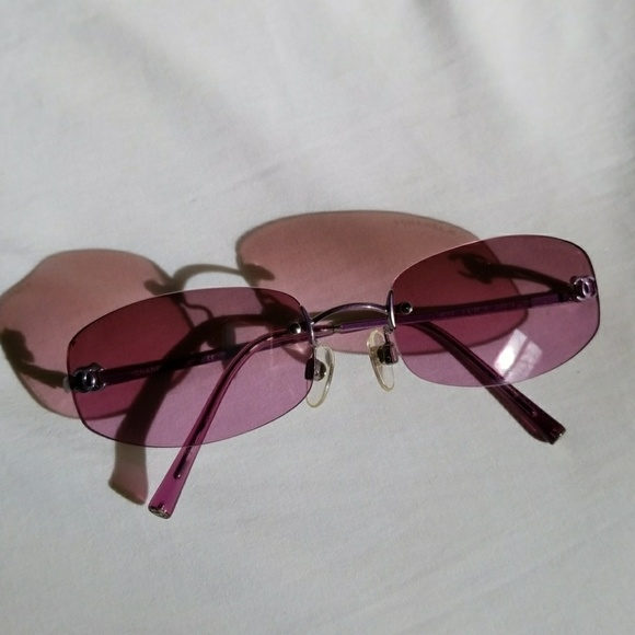 901c3d643b68b Preowned Pink Chanel Sunglasses