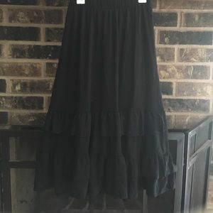 Cute long skirt with ruffles on the bottom!