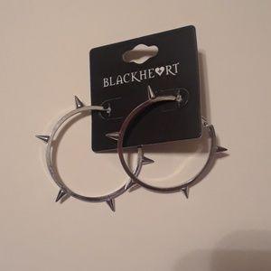 Spiked hoop earrings