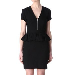 Sandro Reflet Dress in Black