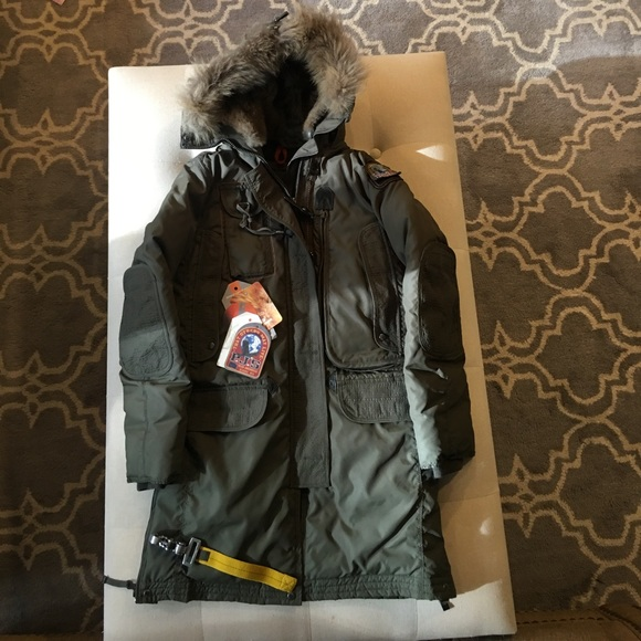Parajumpers kodiak green women's XS slim fit coat
