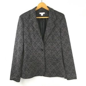 Cotton On Gray And Black Printed Blazer Jacket