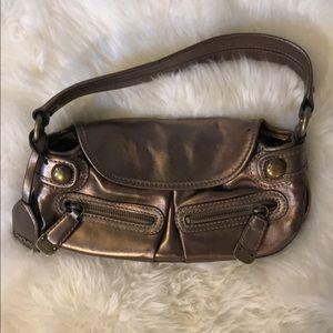 DKNY small purse metallic/ bronze