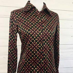 Diane Von Furstenburg kipper buttonup silk blouse