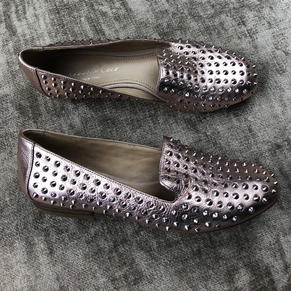 e3db077d1df Kenneth Cole Shoes - Kenneth Cole  Hard Time  rose gold studded loafers