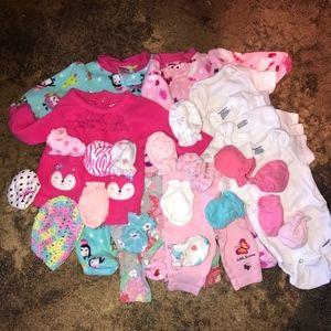 Newborn clothes and newborn diapers!