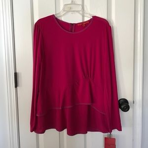 NWT Narciso Rodriguez blouse with peplum XL