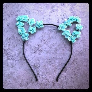 Other - Turcois flower Cat Ears. $5 alone FREE if bundled