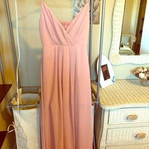 Pink adelyn ray long dress S