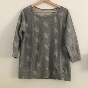 Tops - Grey sweatshirt w/ pink poodles
