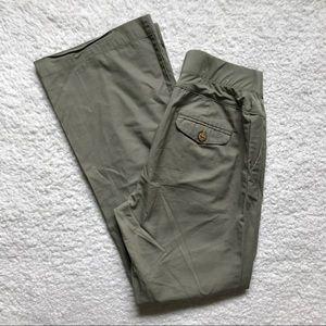 GAP Army Green Maternity Pants Wide Leg