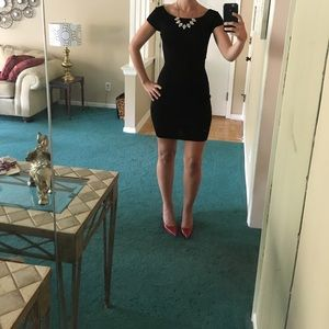 Max Studio Black Fitted Dress
