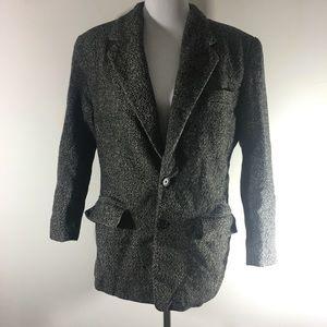 DKNY suit jacket gray size 10