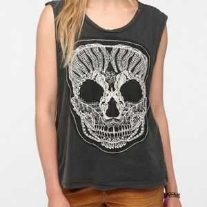 UO Truly Madly Deeply Sugar Skull Embroidered Tank
