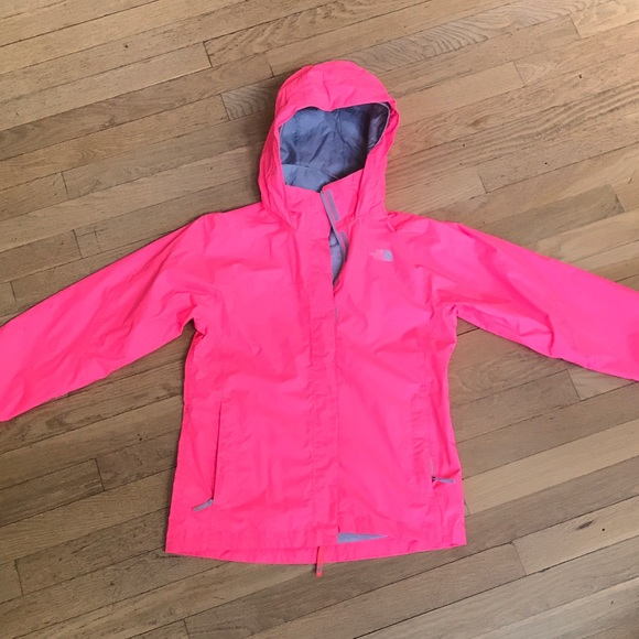 ... france north face girls rain jacket neon pink size l14 16 62c56 248c2  ireland image is loading the north face hyvent ... 3d91793bc