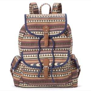 Tribal backpack purse