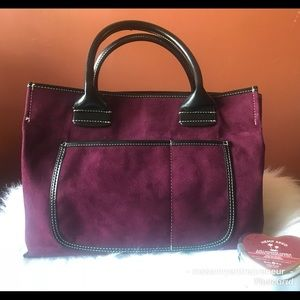 •Saks• Beautiful Perfect Size Tote 13 x 9