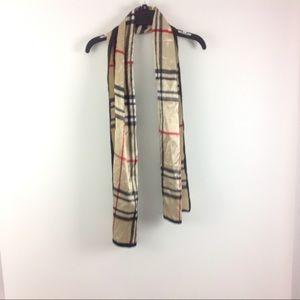 Women's scarf Beige Plaid Cute